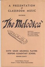 1970 The Melodica Bedford VA Elementary School Louise Robertson Nancy Barker