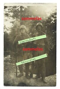 WK1 Foto Sturmsoldaten Stahlhelm Gewehr Feldgrau im Felde Feindesland 7503