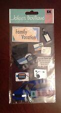 EK Success Jolee's Boutique  Dimensional Stickers - Family Vacation,  Suitcase