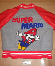 Super Mario Bros Embroidered Sheepskin Lining Jacket, Kid Size 6 VTG Collectible