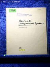 Sony Bedienungsanleitung MHC G100 Mini Hifi Component System (#0866)