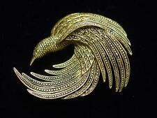 """JJ"" Jonette Jewelry Antique Gold Pewter 'INTRICATELY Designed' Bird Pin"