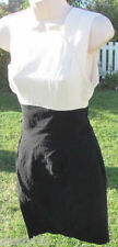 BEBE DRESS Two Fer Jana Black White One Shoulder Body Con Wiggle Staring Pin up