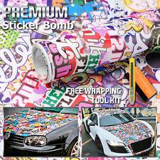 "*12""x60"" Sticker Bomb Vinyl Wrap Decal Film Graffiti Cartoon JDM Anime DIY #HF"