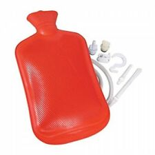 Home Enema Douche Kit Hot Water Bottle Bag 2 Quart Capacity Reusable Red New