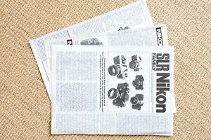 1983 AP Nikon SLR Family article clipping. 3 pages