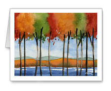 Lake View note cards by watercolor artist Dj Rogers