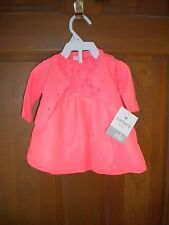 NWT CARTERS NEWBORN GIRLS LINED PEACH DRESS & SWEATER SET DIAPER COVER HOLIDAY