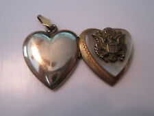 Sterling Silver Heart Pendant Vintage Locket Air Force Military