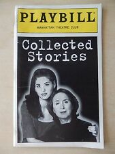 May 1997 - Manhattan Theatre Club Playbill - Collected Stories - Debra Messing