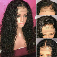 Pre Plucked Brazilian Human Hair curly Full Wigs Glueless Lace Front Wig
