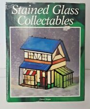 Vintage Holiday Creations Stained Glass Collectables Lighted Flower Shoppe House