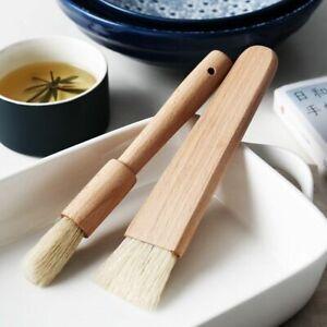 Kitchen Brush Barbecue Oil Brush Round Handle Bristle Brush Pastry Baking- Brush