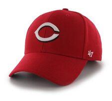 Cincinnati Reds 47 Brand Red MVP Clean Strap Adjustable On Field Hat Cap MLB