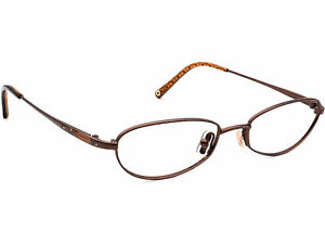 Coach Women's Eyeglasses Della 128 TAN Brown Oval Metal Frame 50[]17 135