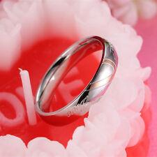 Size 4-15 Titanium Steel Love Heart Wedding Party Men/Women's Party Couple Ring