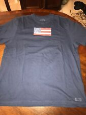 Life Is Good American Flag T-shirt Mens Size XL Navy Free Shipping
