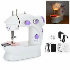 Portable Mini Desktop Sewing Machine Double Speed Automatic Thread with&Light