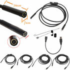 7mm Lens Waterproof 6 LED 720P Inspection Borescope Camera Android Endoscope CB