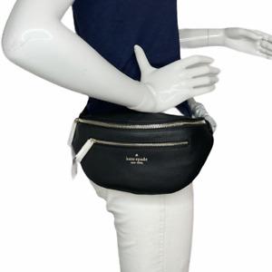 Kate spade Leila Black Pebbled Leather Belt Bag Fanny Bag