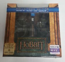 3D Blu-Ray DVD The Hobbit Desolation of Smaug Limited Ed w/ Bookends Statues NEW