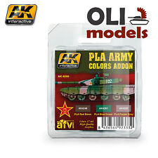 Chinese PLA ARMY COLORS ADDON Acrylic Paint Set 3x17ml - AK Interactive 4260