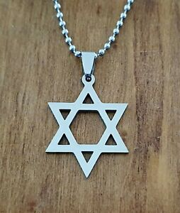 Star of David Stainless Steel Necklace Pendant