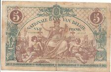 """5 francs type """"1912"""" Bruxelles 30-dec-1919"""