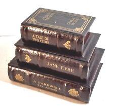 "STACK OF BOOKS SHAPED TRINKET BOX 8"" x 6 x 6"""