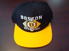 BOSTON BRUINS CCM RARE NEW  RETRO  SCRIPT  HAT CAP SNAPBACK
