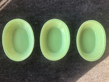 3 Green Cerutil Portugal Stoneware Baking Dish 9""