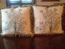 2 NEW! Aubusson Needlepoint BOTANICAL Pillows w/Insert 20X20 - LAST WEEK ONLINE!