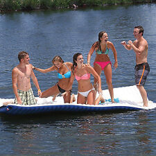 Inflatable Mat Floating Walk Way Plank Party Fun Island Lounger Water Sport Rope