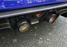 """2 BLUE & BLACK CARBON FIBRE AKRAPOVIC EXHAUST TIPS 4"""" UNIVERSAL STAINLESS STEEL"""
