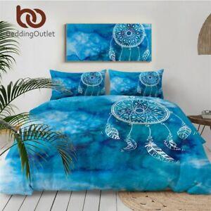 Bohemia Luxury Blue Bedding Sets Quilt Cover Duvet Cover Bedclothes Pillowcases