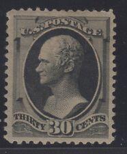 US STAMP #190  --- 30c HAMILTON - 1879 - VF - UNUSED - GRADED 80
