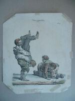 Litho XIX Langlume Ah! J' Ris Ti von Pigal Edme-Jean Circa 1822
