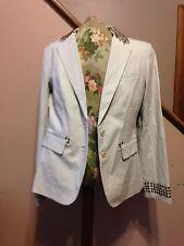Light olive green NY & Company Women's blazer with studs, size 10