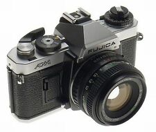 FUJICA AX-1 WITH X-FUJINON 1:1.9 f=50mm DM 35mm CHROME FILM CAMERA SLR CLEAN