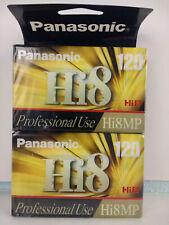New Sealed Pack of Two Panasonic Hi8 Mp 120 8mm Video Camcorder Blank Tapes