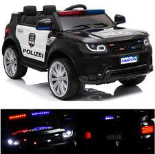 👮🏻 POLIZEI Kinderauto mit Funkgerät Kinderfahrzeug Kinder Elektroauto Schwarz