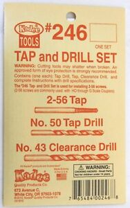 Kadee HO S O Scale #246 ~ Tap & Drill Set 2-56 Tap ~ #50 Drill ~ #43 Clearance