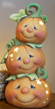 "Ceramic Bisque Ready to Paint ""Jack the Pumpkin Stack"" electric included"