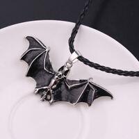 Charm Seil Emaille Fledermaus Anhänger Halskette Schmuck Gothic Halloween Unisex