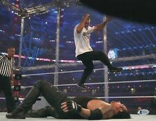 L@@K WWE WRESTLEMANIA SHANE MCMAHON SIGNED AUTOGRAPH 11x14 PHOTO BAS COA BECKETT
