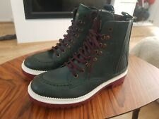 NEW Jimmy Choo Green Leather Boots UK 9 EU 43