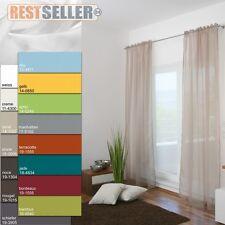 Schlaufenschal mit Schlaufen-Band transparent Voile Dekoschal Gardine Vorhang