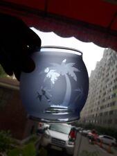 Palm tree etching cobalt glass globe for Coleman 200A Lantern ,  lamp , lamterns