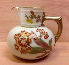 "Victorian Royal Worcester ""Floral Study"" Ivory Ground Jug 1891."