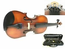NEW,1/2 SIZE VIOLIN+ CASE+ BOW+ ROSIN+PRELUDE STRINGS,READY TO PLAY